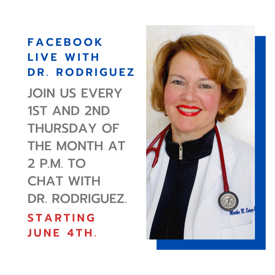 Dr. Rodriguez primary care physician Boynton Beach on Facebook Live.